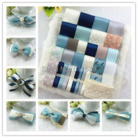 Hot Sale Vintage Blue Ribbon Set For Craft Handmade Diy Hair Accessory Material Accessories Kit Bow
