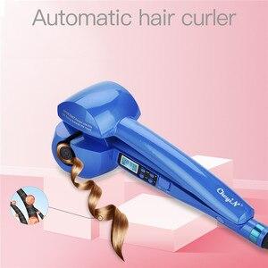 Image 1 - דיגיטלי אוטומטי קרלינג ברזל קרמיקה רולר להסס מכונת מהיר חימום רולר מתולתל שיער ליידי טמפרטורת בקרת שיער Curler