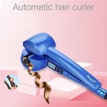 Fer à friser numérique numérique, automatique, en céramique, Machine à onduler, chauffage rapide, avec rouleau, contrôle de la température des cheveux bouclés pour dames
