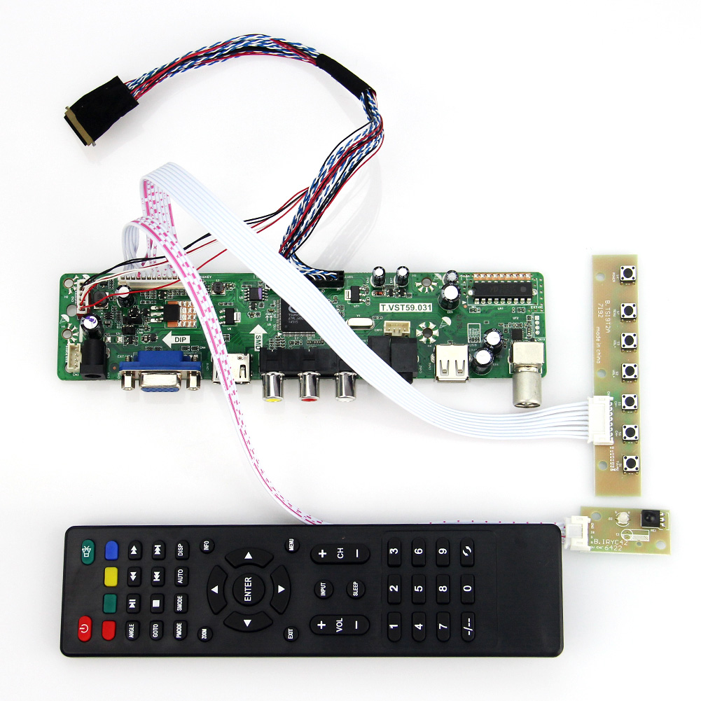 T.VST59.03 For B089AW01 V.1 LCD/LED Controller Driver Board (TV+HDMI+VGA+CVBS+USB) LVDS Reuse Laptop 1024x600 t vst59 03 lcd led controller driver board tv hdmi vga cvbs usb for b101ew05 v 3 pq101wx01 lvds reuse laptop 1280x800