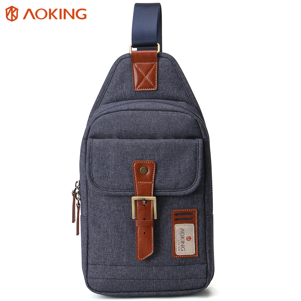 Aoking New Men Top Quality CrossBody Sling Bag Messenger Shoulder Bags Stylish Fahion Casual Buckle Chest Pack Bag casual canvas satchel men sling bag