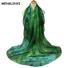 2018 Nouvelle Marque De Luxe Cachecol Gradient Couleur Paisley Imprimer  Écharpe Pour Femmes De Mode bandana hijab Foulard Echarp. 077e3a738b2