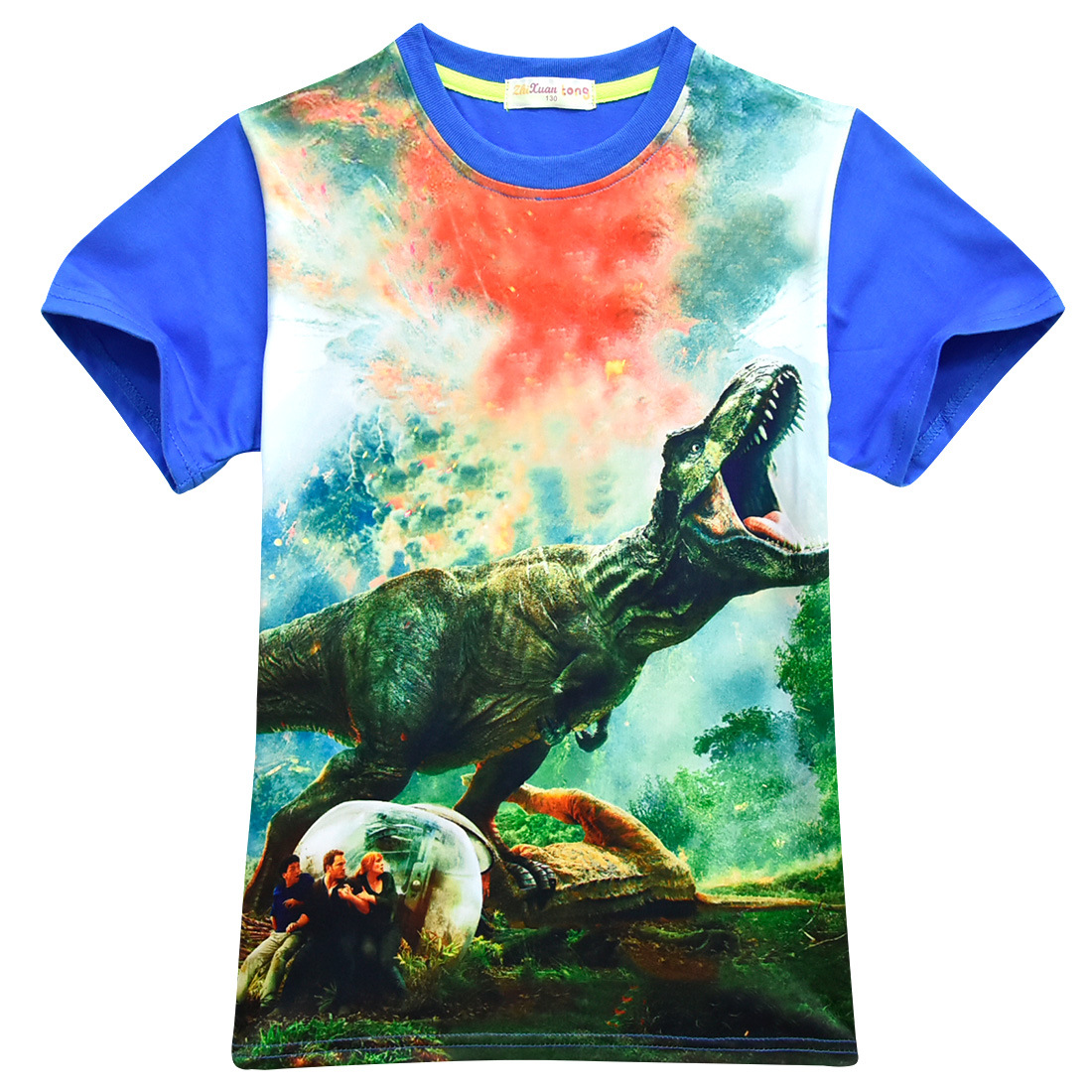 8dfb9c858 Boys 3D Dinosaur Printed t shirts Summer Tops Tees t-shirt girls clothing  Kids Boys Cute pattern Tshirt Teen 4 6 8 10 12 years
