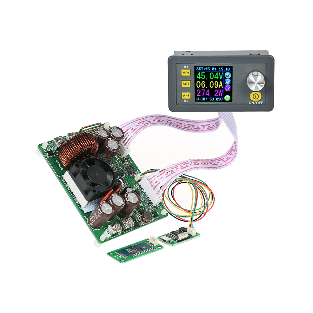 LCD Digital Programmable adjustable DC Power Supply Module Control Buck-Boost voltage regulator Constant Voltage Current DPS5020 solar energy wind power regulator charging automatic buck voltage constant voltage constant current adjustable power supply