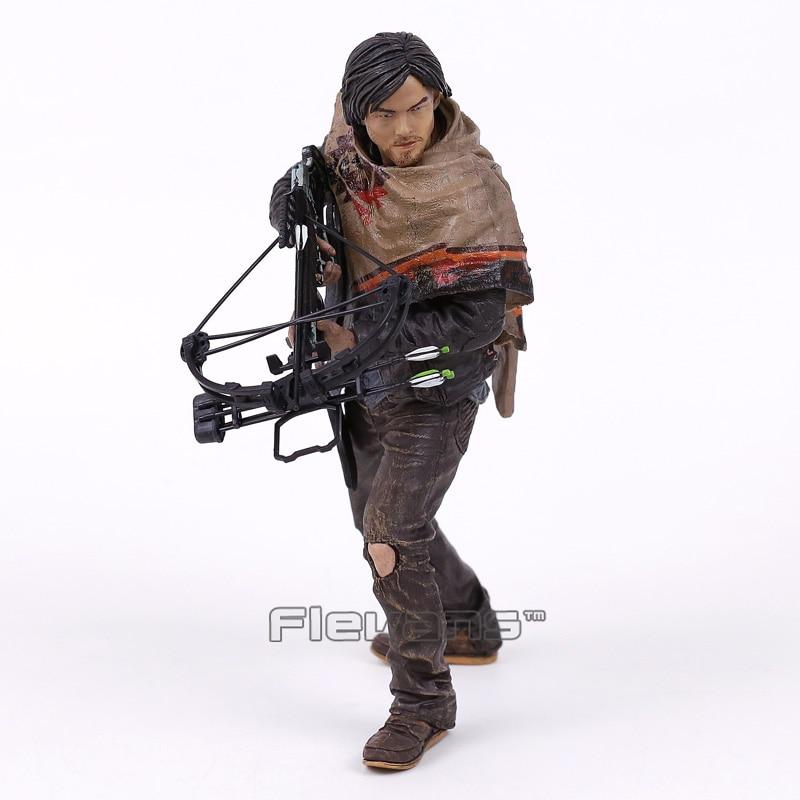 все цены на The Walking Dead Daryl Dixon PVC Figure Collectible Model Toy 10inch 25cm