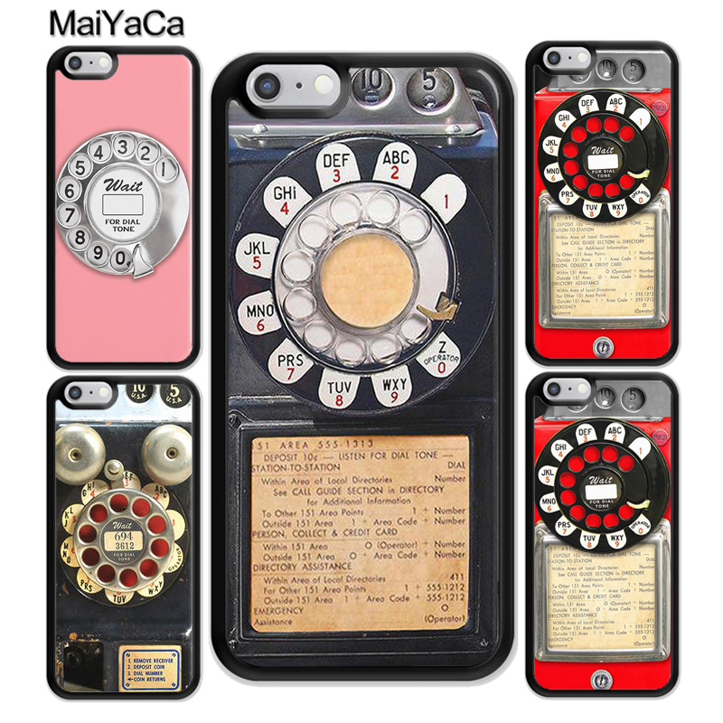 MaiYaCa Retro Vintage Blue Payphone Printed Soft Rubber Phone Cases Accessories For iPhone 7 8 6S Plus X XS MAX XR 5S SE Cover