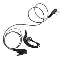 Alloyseed Universal 2 Pin K Type Interphone Earpiece Headset with PTT MIC for BAOFENG/Kenwood/HYT/PUXING/LINTON/TYTet/QUSHENGAN