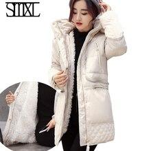 Smxl Ultra keep Warm new down coats Parkas casacos De Neve de inverno pato branco para baixo Outerwear feminino
