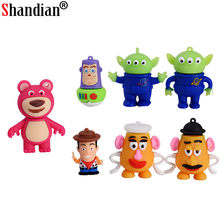 USB Flash Drive Pendrive Dos Desenhos Animados Toy Story Buzz Lightyear SHANDIAN 64GB GB GB 8 16 32GB 4GB memory Stick Pen Drive Mini Presentes(China)