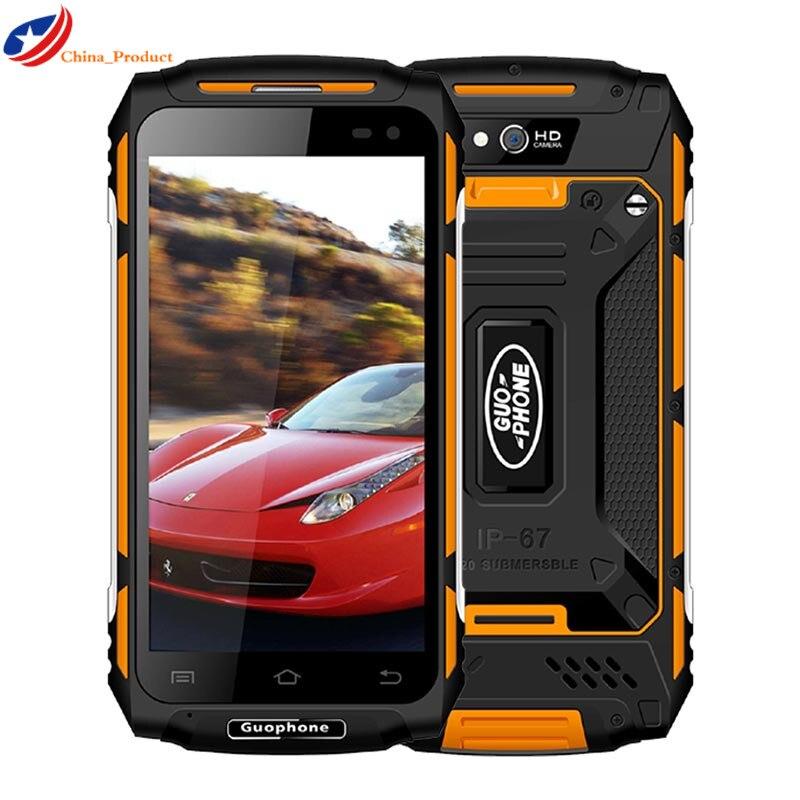 "Guophone x2 ip67 impermeável à prova de choque telefone móvel 5500 mah 5.0 ""hd mtk6737 quad core 2 gb + 16 gb android 6.0 8mp gps 4g smartphone"