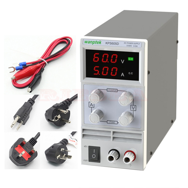 wanptek KPS605D 60V 5A Single Channel adjustable Digital 0.1V 0.01A DC Laboratory power supply cps 6011 60v 11a digital adjustable dc power supply laboratory power supply cps6011