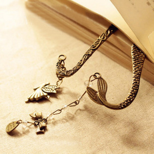 Buy two or more free shipping classical elf pattern beaded mermaid beautiful bow Bookmarks