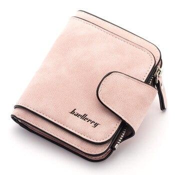 Baellerry 2020 Luxury Matte Leather Wallet Women Short Coin Pocket Card Holder Small Ladies Purse Money Bag Women Wallets W089