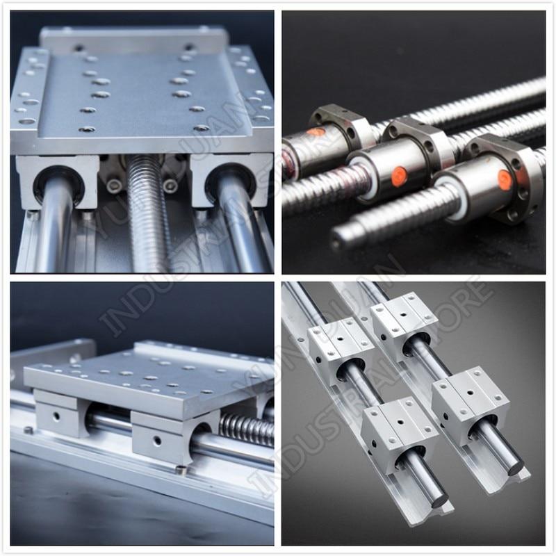 200MM Stroke Sliding Table CNC Heavy Load Electric Precision Milling Slide Linear Stage SFU1605 C7 Ball Screw SBR Guide Platform