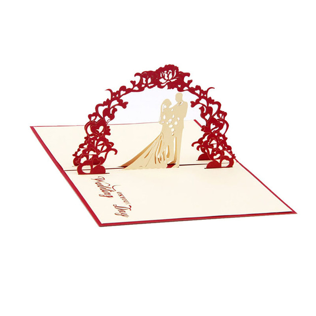 3d pop up wedding cards greeting card anniversary invitation personalised valentines good quality