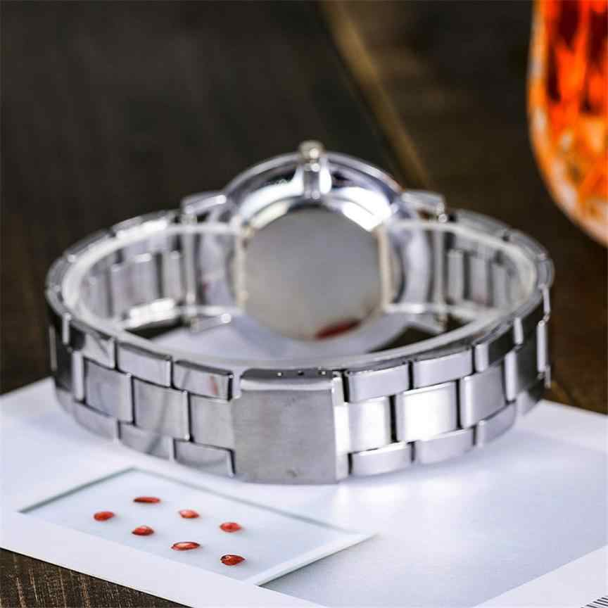 ยี่ห้อผู้ชายนาฬิกาแฟชั่นRose Goldสแตนเลสนาฬิกาข้อมือควอตซ์Analog Mens LadyเจนีวานาฬิกาRelogio