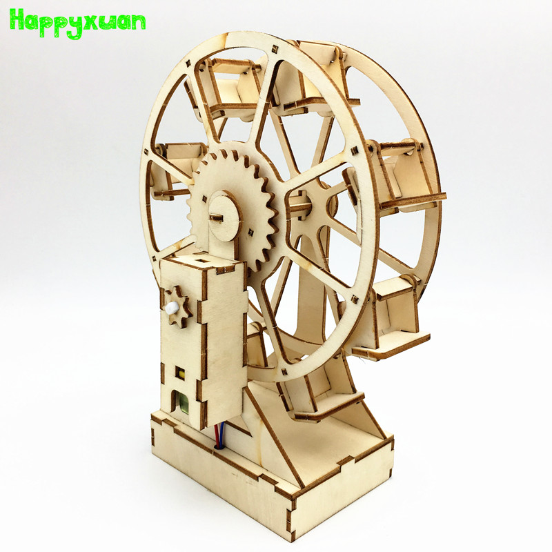 Happyxuan DIY Science Projects  Electric Educational Ferris Wheel Build Your Own Model Stem Toys For Kids Explorer Kit Gifts