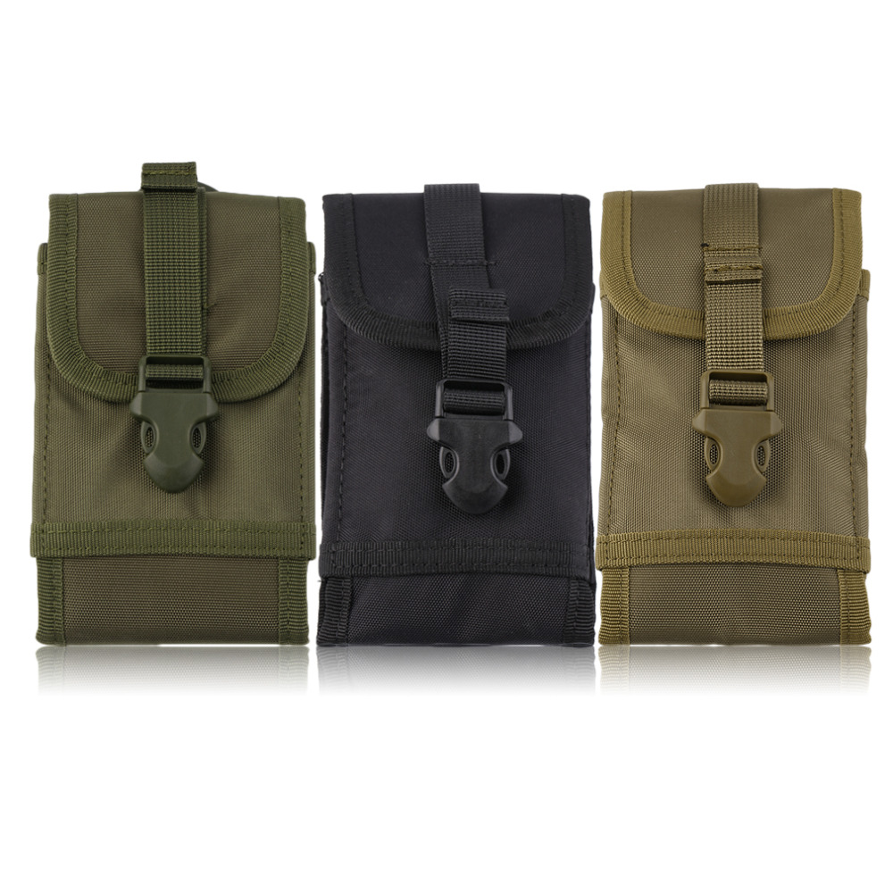 Outdoor Running Bags Sport Hiking Running Waterproof Tactical Waist Bag Multifunctional Pouch Bag For 5.5 Inch Screen Mobile Ph