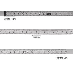 Image 5 - In Acciaio Inox Mitra Pista Misura di Nastro Autoadesivo Metrica Bilancia Righello 1 M 3 M per T track tabella di Router Seghe Lavorazione Del Legno Strumento