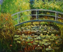 Hand Painted Water LIly Pond Claude Monet Painting Reproduction Oil Canvas Painting Wall Art  Picture Painting for Living Room claude monet oil painting on canvas landscape painting lotus painting wall pictures for living room hight quality hand painted