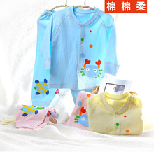 2 autumn and winter children's clothing cotton soft cotton 100% cotton child underwear baby lounge baby double-breasted ecgii