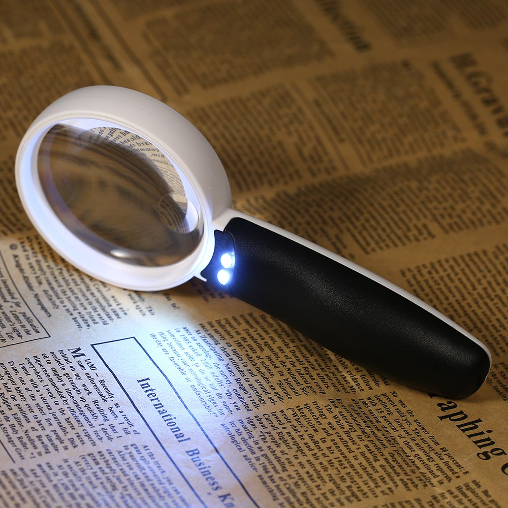 13x/6.5x Rechargeable Magnifier With LED Light Magnifying Glass Portable USB Magnifying Tool Jewelry Magnifier Loupe