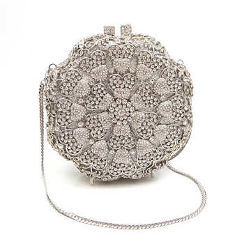 Fashion design clutches women evening party bag diamonds flower shape crystal purses crystal clutches bridal wedding party purse - DISCOUNT ITEM  50 OFF Luggage & Bags