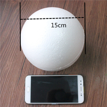 1 pcs 150mm Modelling Polystyrene Styrofoam Foam Ball White Craft Balls For DIY Christmas Party Decoration Supplies Gifts