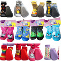 Prewalker Хлопок Младенцев Носочки для новорожденных Антипробуксовочная Детские Носки С Резиновой Подошвой для Малышей Крытый Этаж Обувь Детская Носки Ws925