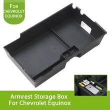 Черный Прочный Автомобиль Центральной Консоли Подлокотник вторичный ящик для хранения перчатки поддон для Chevrolet Equinox 2017