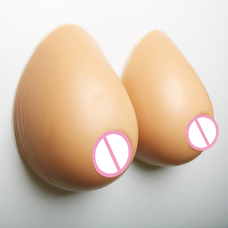 1000G/pair 34DD/36D Cup Artificial Fake Boobs Silicone Transvestite False Breast Forms Big realistic crossdresser Faux Breasts 1000 g d cup nude skin tone fake silicone breast for crossdresser teardrop realistic artificial form boobs for man cosplay