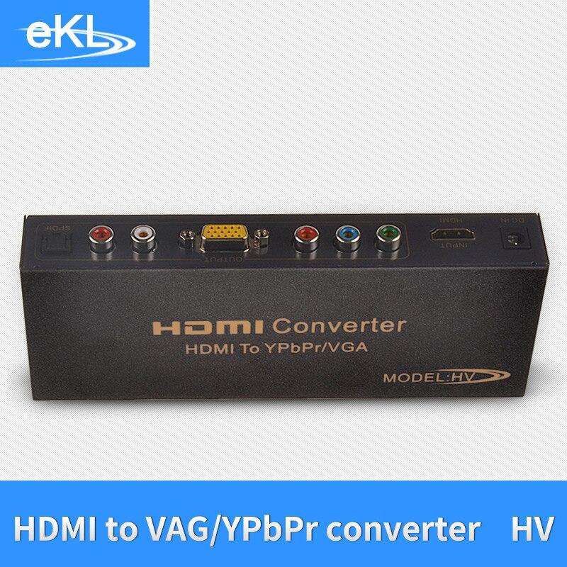 EKL HDMI TO VGA YPBPR Converter Video with R/L Audio