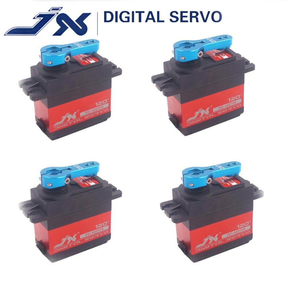 4Pcs JX PDI 6221MG 20KG Large Torque Digital Coreless metal gear Servo For RC car TRAXXAS