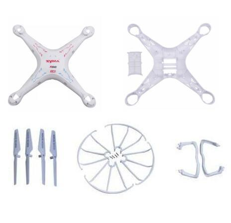 syma x5c x5 X5A 2.4G RC Helicopter Quadcopter Drone spare parts kits body+blade+landing skid+ Blade Protecting Frame