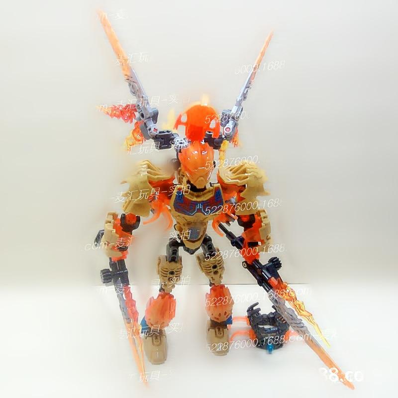 SERMOIDO Biochemical Warrior BionicleMask of Light Tahu Fire Building Block Compatible with Bionicle 71308 Toys B25