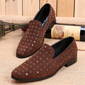 New Rhinestone Studded Men Loafers Fashion Mens Flat Shoes Office Dress Shoes Slip On Casual Flats Mocassin Creepers Espadrilles