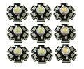 50 pçs/lote Alta Potência 1 W 3 W Frio/Warm White 3500 K 6500 K 15000 K Lâmpada LED Chip Diodos de Cristal de Luz Com 20mm AL Estrela Base