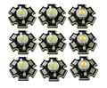 50pcs/lot  High Power 1W 3W Cool / Warm White 3500K 6500K 15000K LED Bulb Chip Crystal Diodes Light With 20mm AL Star Base