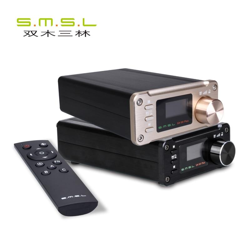S.M.S.L SMSL SA 50 PLUS HiFi 50W *2 AUX Optical USB Disk Portable Power Amplifier Digital Amplifier 4 input options