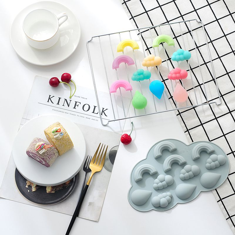 Cloud//Rainbow Silicone Mold DIY Fondant Chocolate Soap Mousse Mould Tray