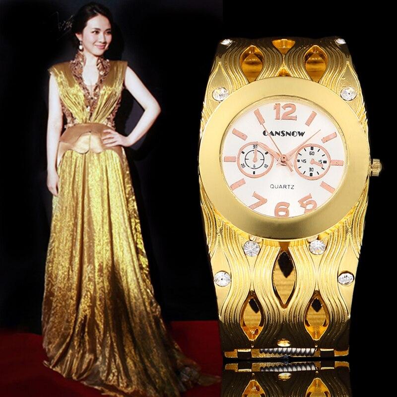 2016 Fashion Women Bracelet Watches Ladies Watch Luxury Brand Clock New Top Quality Full Steel Rhinestone