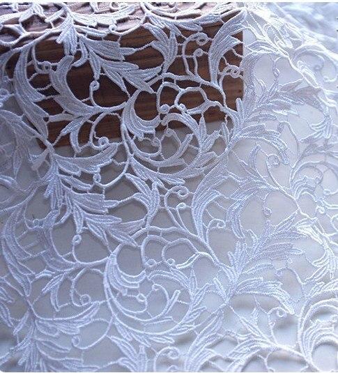 Off לבן ונציה תחרת בד בד שמלת שמלת כלה תחרה סרוג פרחים עתיק, 1 חצר על מכירה אפריקאית תחרה בד