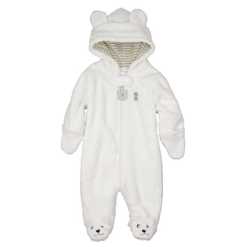 Autumn Winter Baby Rompers Bear style baby coral fleece brand Hoodies Jumpsuit baby girls boys romper newborn toddle clothing in Rompers from Mother Kids