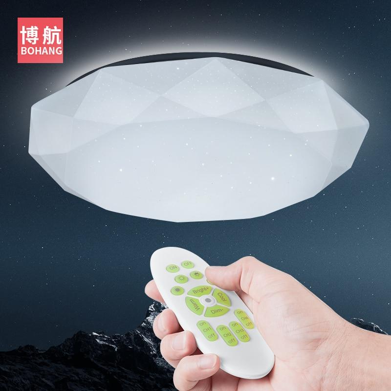 BARU Modern LED Lampu Langit-langit 2.4G RF Remote Control Dimmable lampu Ceililng Untuk Ruang Tamu Kamar Tidur 25 W 60 W 220 V lampu langit-langit