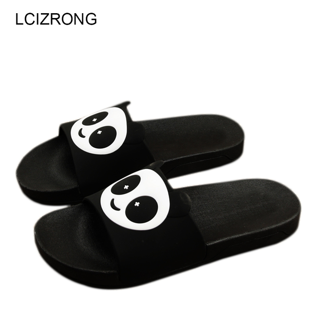 15b778d267662 LCIZRONG Panda Slippers Women Beach Summer Bathroom Shoes Cute Home Slippers  Funny Womens Slides Big Size Unisex Indoor Chinelo