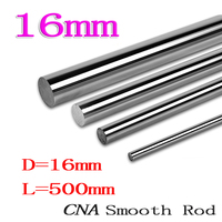1pcs Lot 3D Printer Rod Shaft WCS 16mm Linear Shaft L500mm Chrome Plated Linear Motion Rail