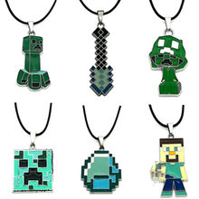 1Pcs Key Chain Hot Sale Minecrafted Toys Sword Steve Ring Anime Game Legoings Minecrafted Necklace Keychain Figure Juguetes Toys(China)