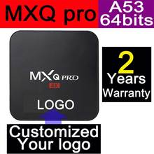 1pcs MXQpro Custom Made Amlogic S905X Quad core Smart Android6.0 LIVE TV Streaming Box 1GB 8GB MediaHub 1200+ live tv 1000+ VOD