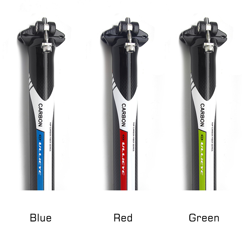 Ullicyc Carbon Alloy Bicycle Seatpost 27.2/30.8/31.6 Cycling Bike Seatpost Carbon Seat Tube Straight 3K Glossy MTB Seat Tube