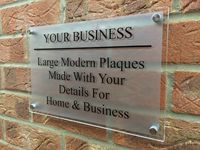 Customize MODERN BUSINESS PLAQUE LARGE A4 HOUSE SIGN GLASS ACRYLIC OFFICE\/COMMERCIAL